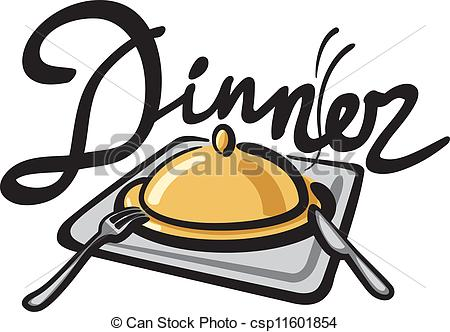 Abendessen Illustrationen und Clip.