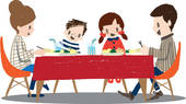 Drawings of Man Eating TV Dinner x10952124.