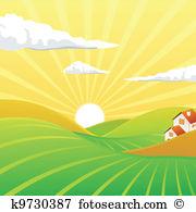 Abendstimmung Clip Art Illustrationen. 19.251 abendstimmung.