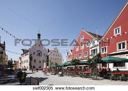 Stock Image of Germany, Bavaria, Lower Bavaria, Abensberg, View of.