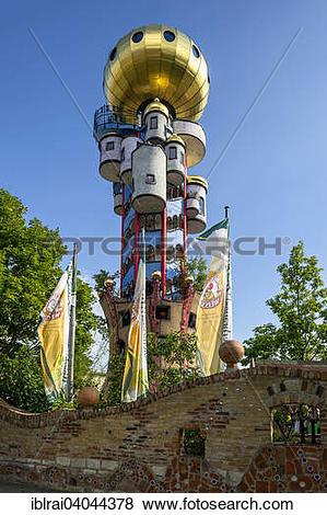 """Pictures of """"Kuchlbauer Tower, also Hundertwasser Tower by."""