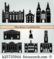 Aberdeen skyline Clip Art Royalty Free. 6 aberdeen skyline clipart.