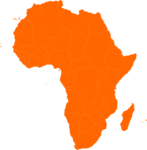 Free map of africa clipart.