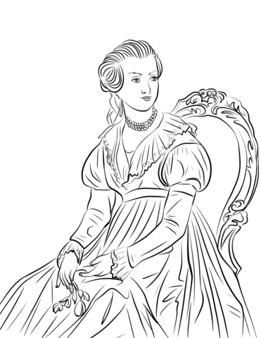 Abigail Adams coloring page.