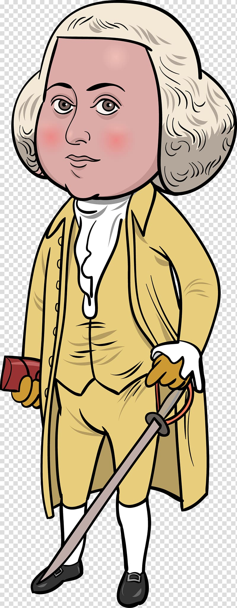 John Adams transparent background PNG cliparts free download.
