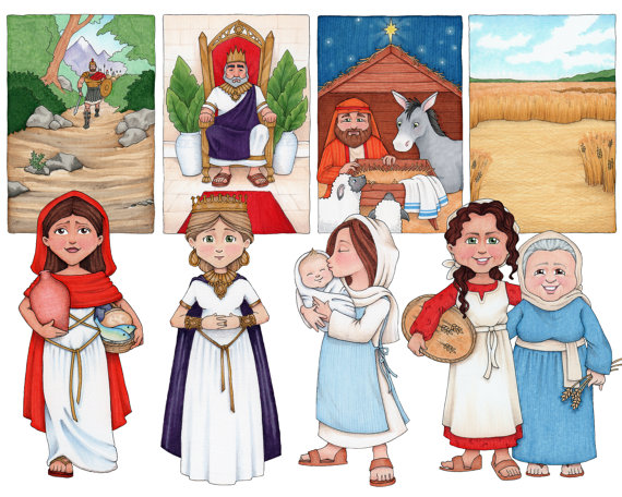 Women in the Bible Clip Art collection.