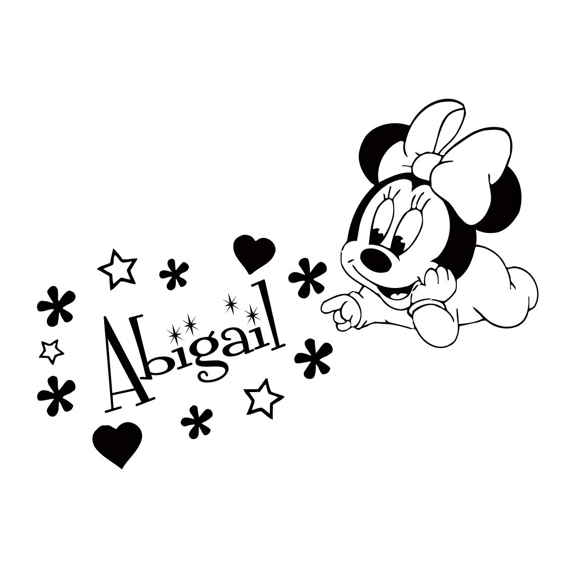 Amazon.com: Name Wall Decal Minnie Mouse Disney Vinyl Decals.
