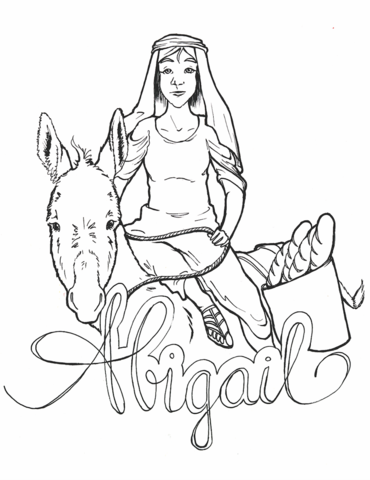 Abigail In The Bible Coloring Pages.