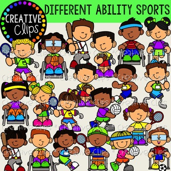 Differently Abled Kids: Sports {Creative Clips Clipart}.