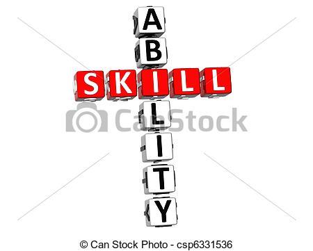 Stock Illustration of Skill Ability Crossword.