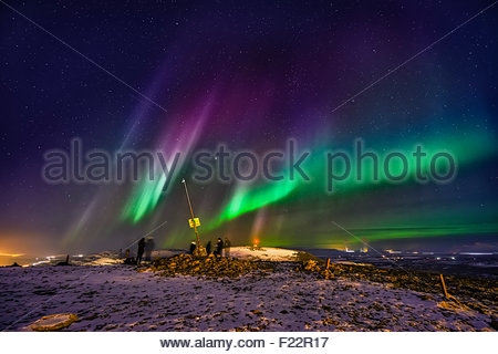 People Enjoying The Night Skies From The Abisko Sky Station.