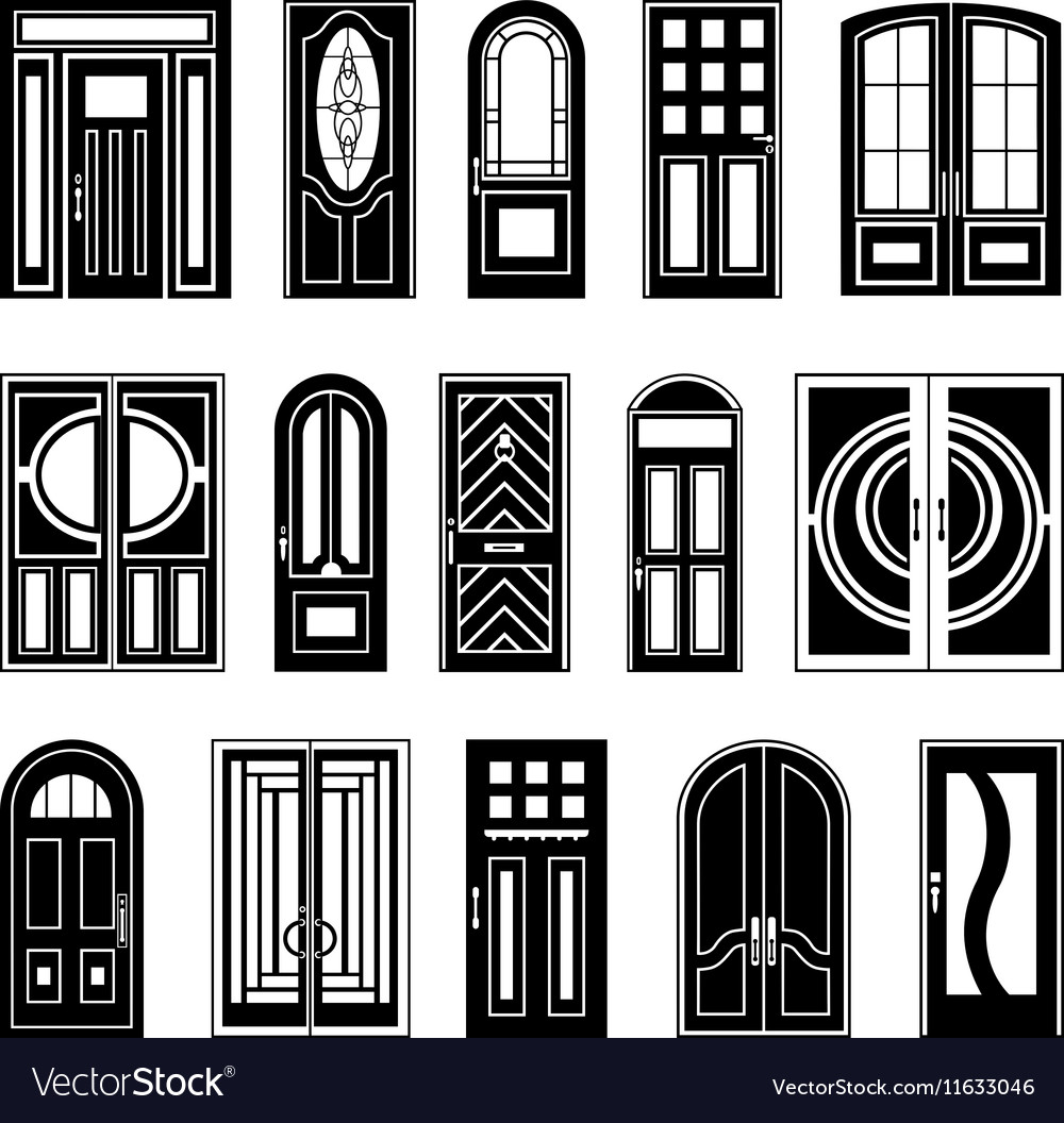 House Doors Black Design Collection.
