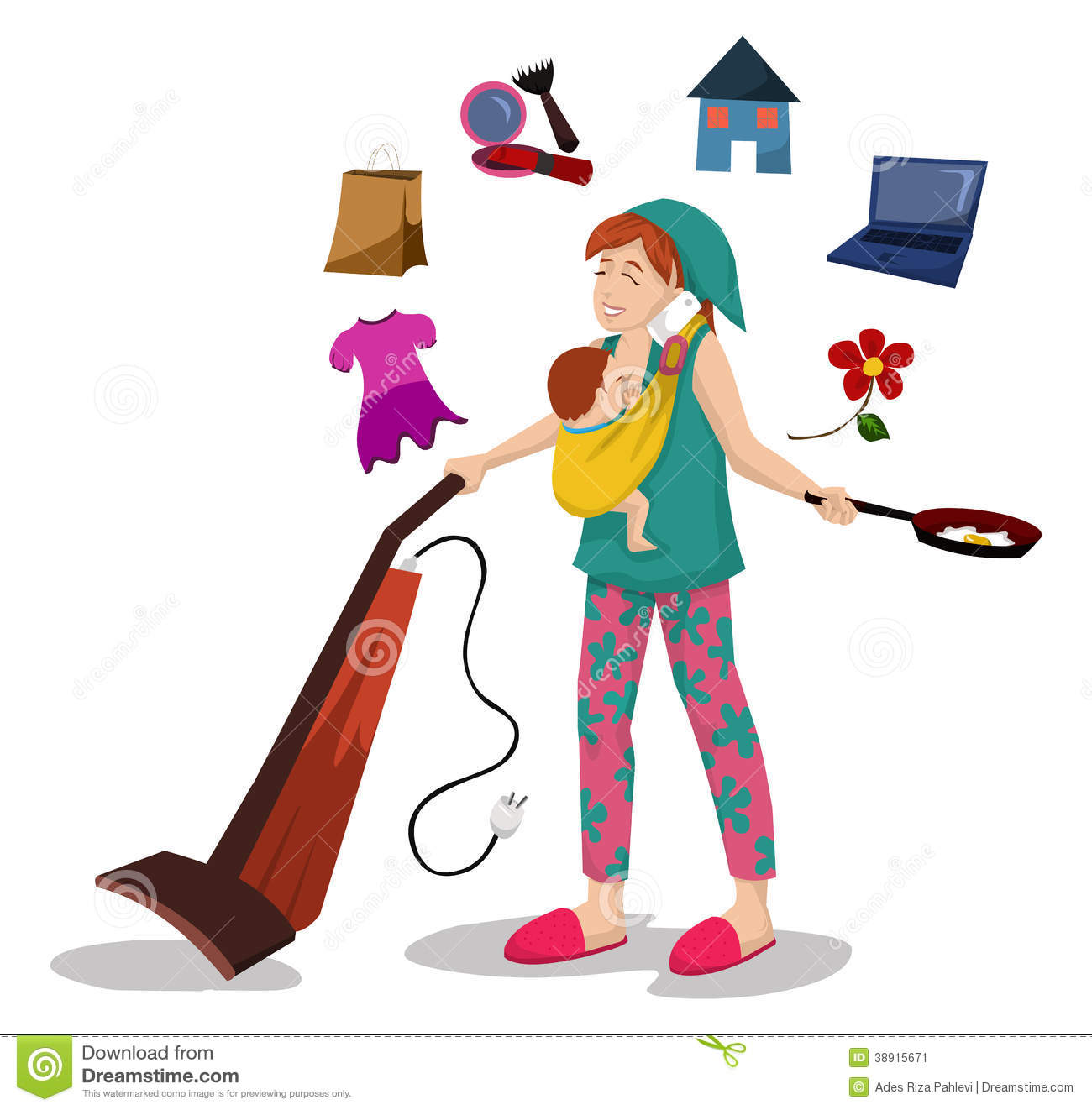 Woman At Work Clipart.