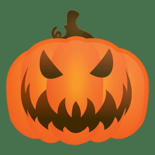 Abóbora de halloween malvado.