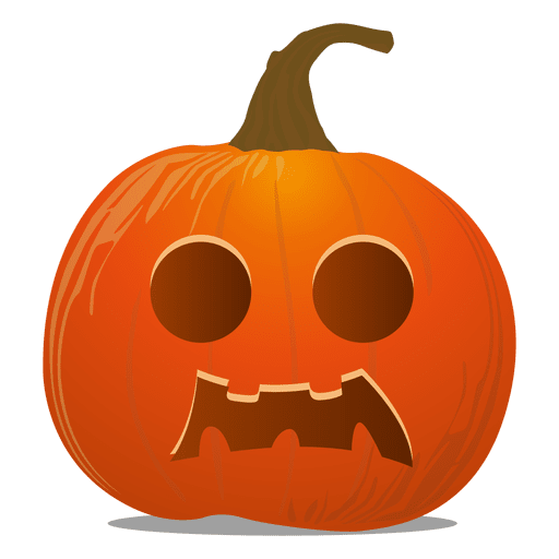 Emoticon de abóbora de Halloween.