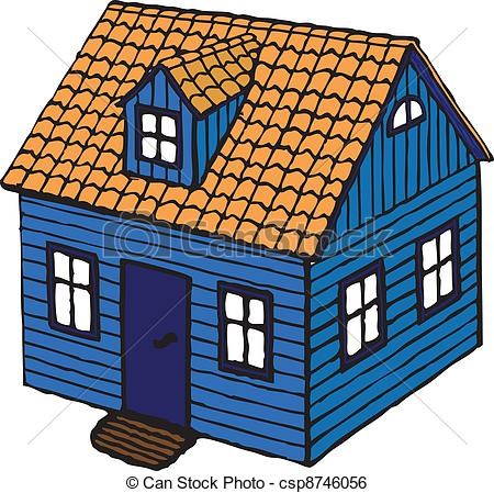 Clip Art Vector of Small House.