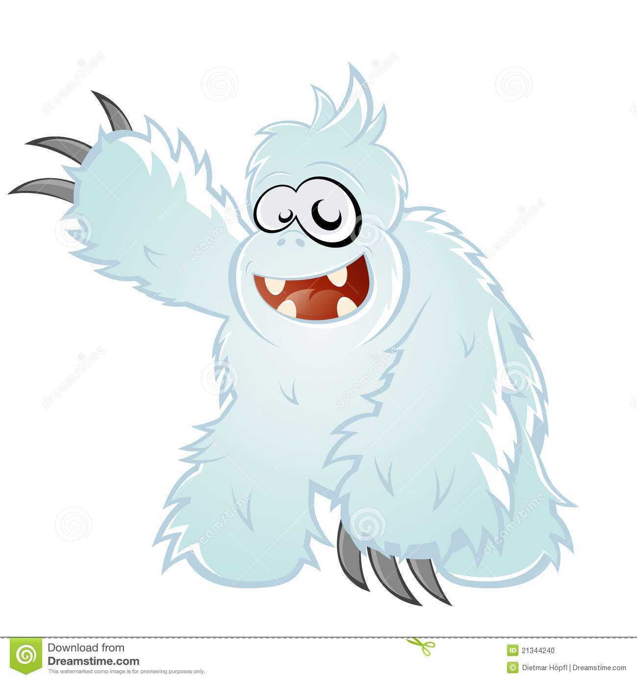 Abominable Snowman Clipart.