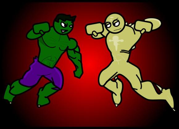 Hulk Vs Abomination Clipart.