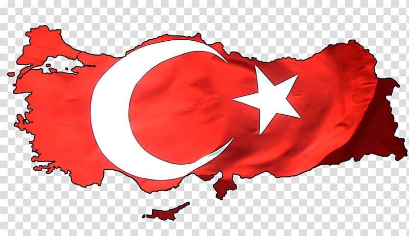 Flag of Turkey Map, Flag transparent background PNG clipart.