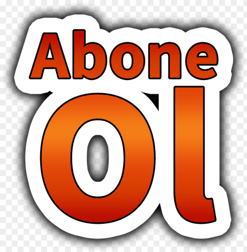 abone ol butonu PNG image with transparent background.
