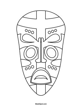 Printable African Mask.