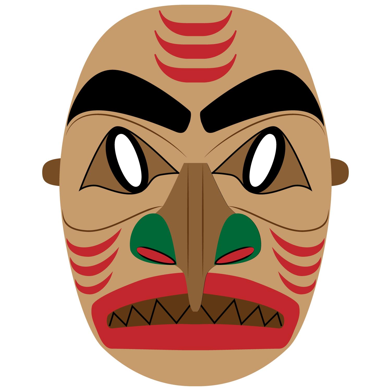 Aboriginal Mask Template.