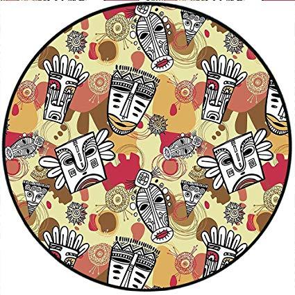 Amazon.com: Short Plush Round Rug Tribal Cartoon Aboriginal.