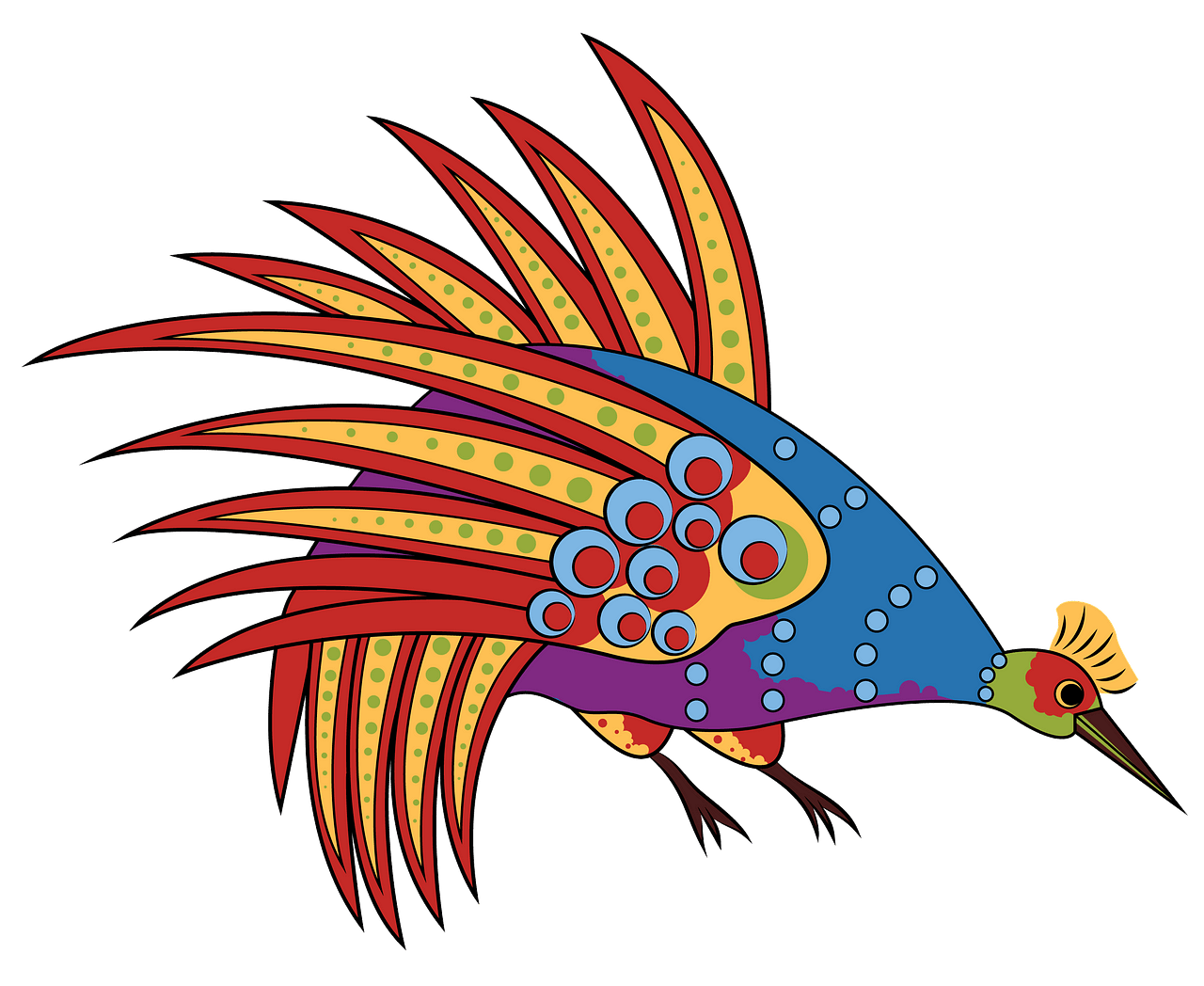 Aboriginal Art Bowerbird clipart. Free download..