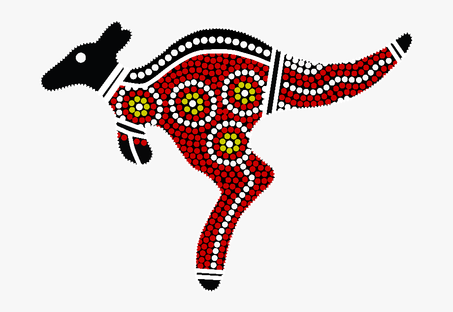 Aboriginal Art Kangaroo , Transparent Cartoon, Free Cliparts.