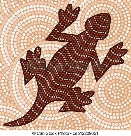 Clipart Vector of Aboriginal Art.