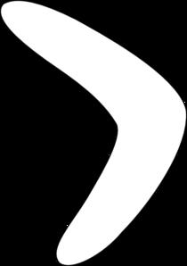Simple Boomerang Pattern2 clip art.
