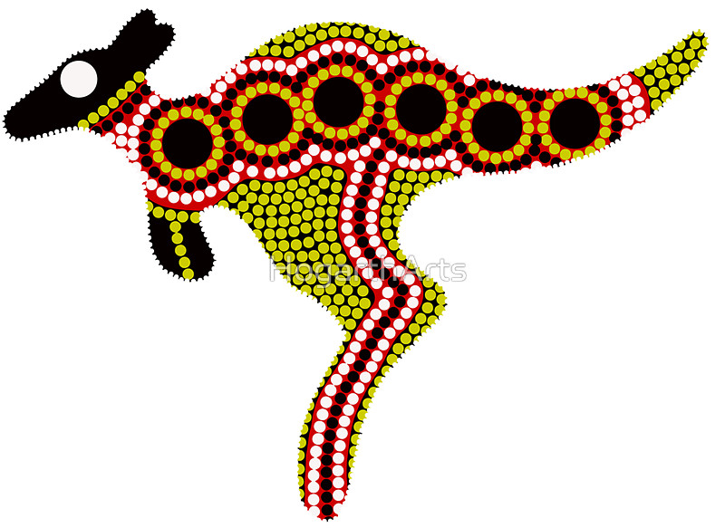 Aboriginal Kangaroo Clipart.