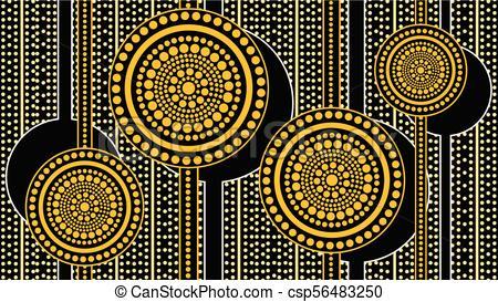 Aboriginal art landscape background.