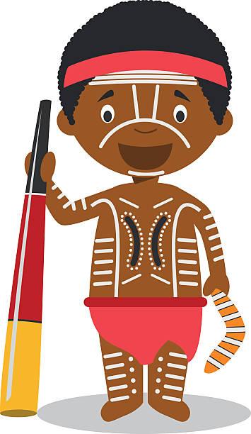 Best Aboriginal Children Illustrations, Royalty.