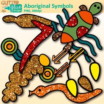 Aboriginal Symbols Clip Art: Australian Dreamtime Graphics {Glitter Meets  Glue}.