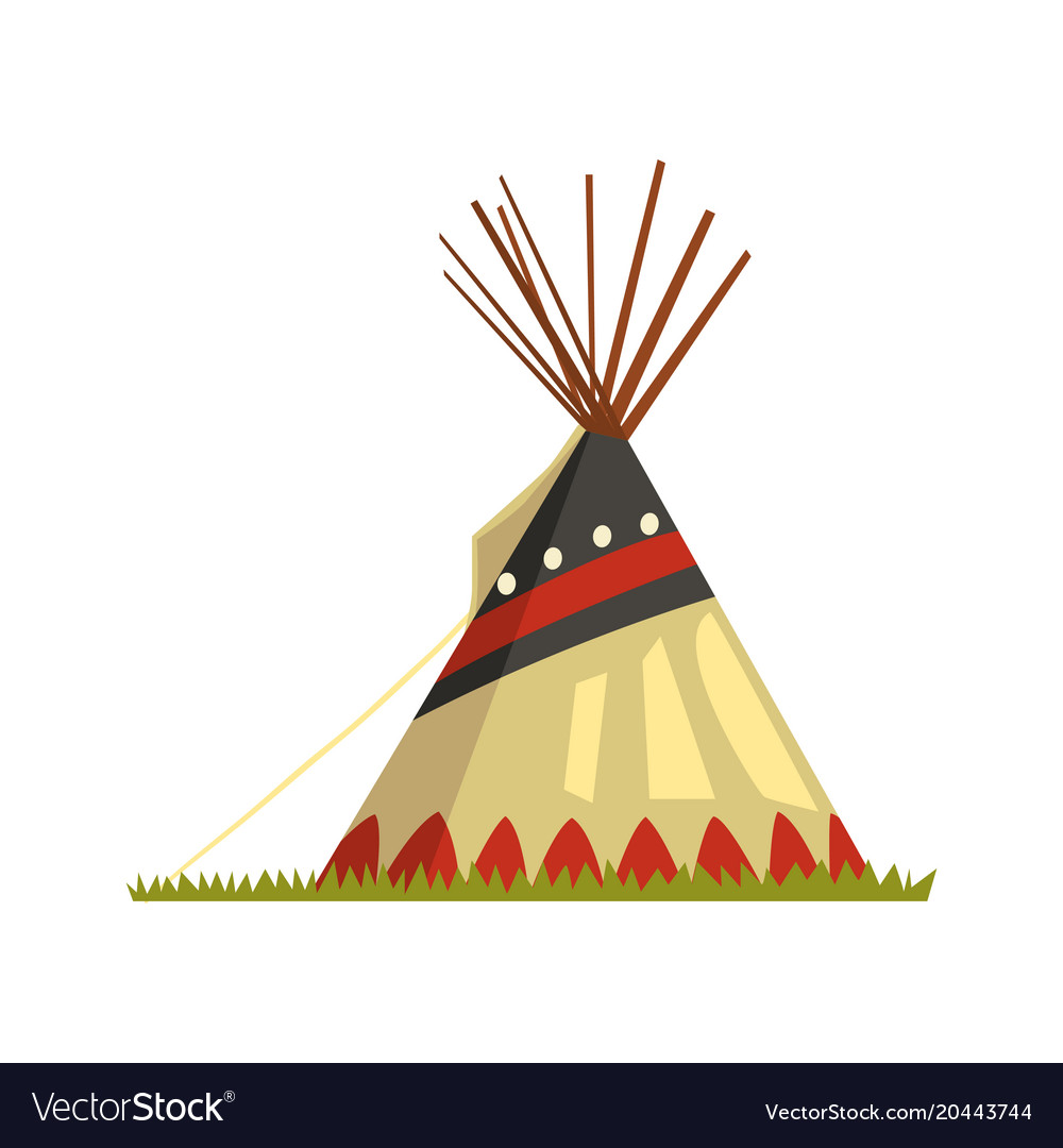 Teepee tent or wigwam native american dwelling.