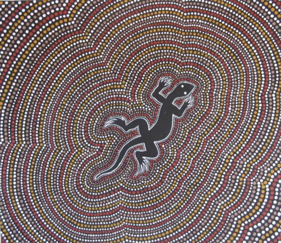 Aborigine dot art clipart.