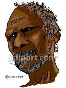 Aboriginal man clipart.