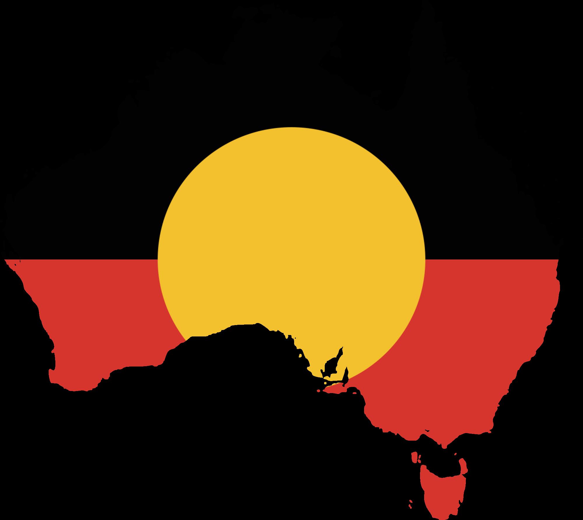 Aboriginal flag clip art.