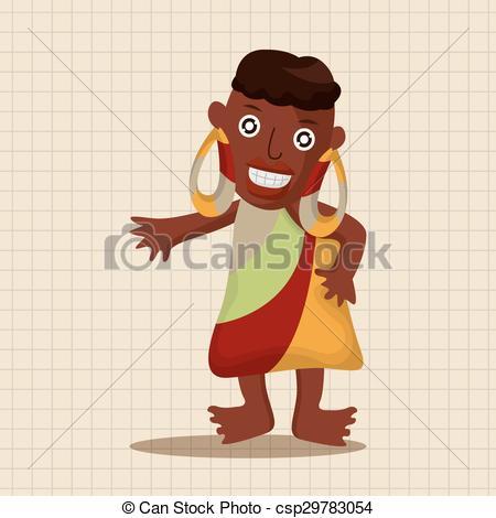 Clipart Vector of Aborigines theme elements csp29783054.