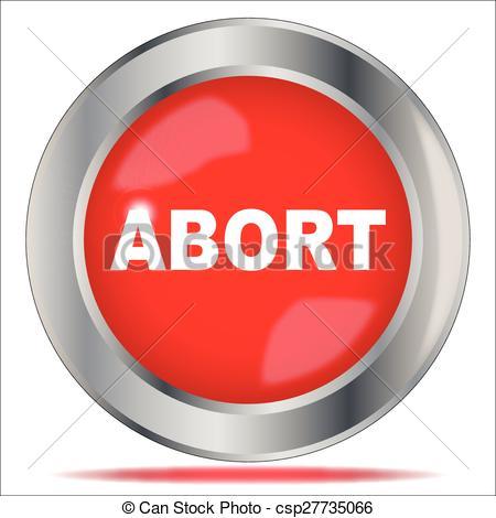 Clip Art Vector of Abort Button.