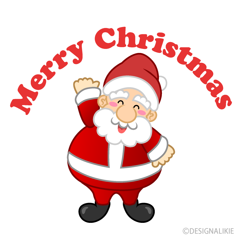 Free Santa and Merry Christmas Clipart Image|Illustoon.