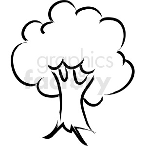 cartoon tree drawing vector icon clipart. Royalty.