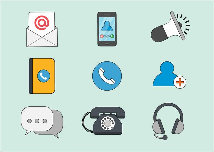 contact icon set clipart #10