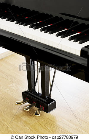 Picture of Piano pedals from an upright view at a concert hall.