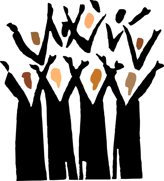 Choir Singers Clipart.