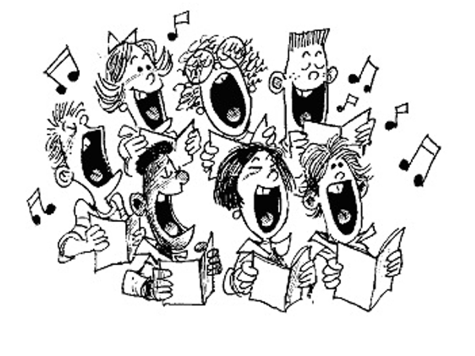 church choir clipart.