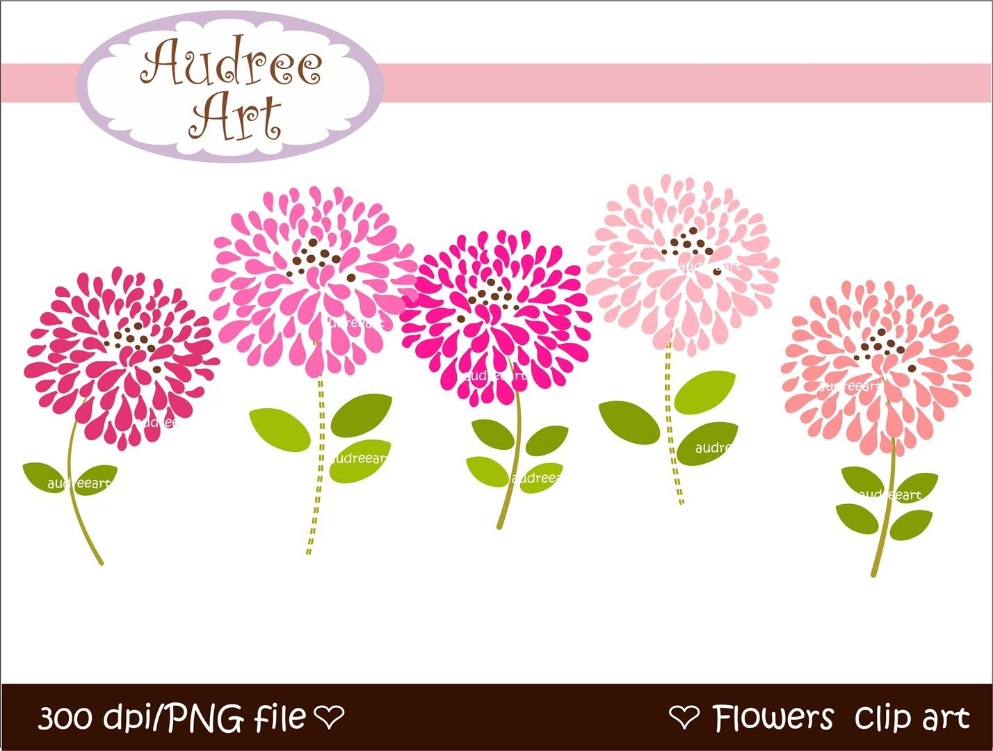 Blooming Flower Clipart.