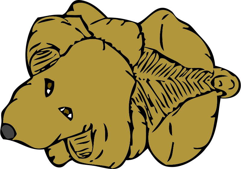 Free Clipart: Dog from above.