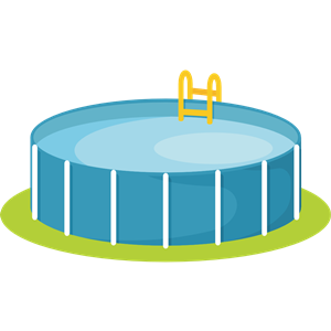 Above Ground Backyard Pool clipart, cliparts of Above Ground.